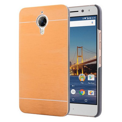 Microsonic General Mobile Gm5 Plus Kılıf Hybrid Metal Gold Cep Telefonu Kılıfı