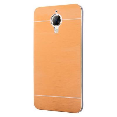 Microsonic General Mobile Gm5 Plus Kılıf Hybrid Metal Gold Cep Telefonu Kılıfı