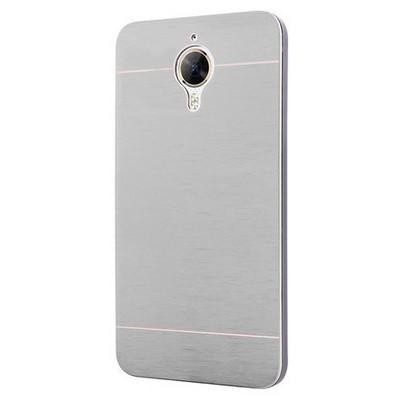 Microsonic General Mobile Gm5 Plus Kılıf Hybrid Metal Gümüş Cep Telefonu Kılıfı