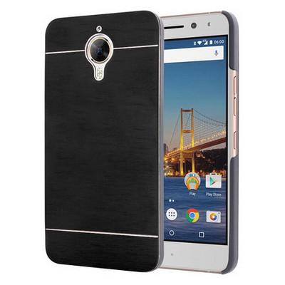 Microsonic General Mobile Gm5 Plus Kılıf Hybrid Metal Siyah Cep Telefonu Kılıfı