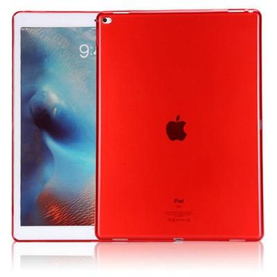 Microsonic Ipad Pro 12.9 Kılıf Transparent Soft Kırmızı Tablet Kılıfı