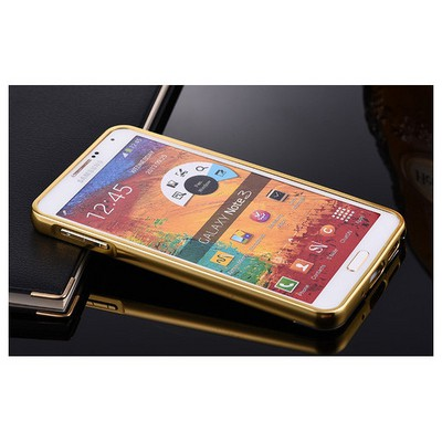 Microsonic Samsung Galaxy Note 3 Kılıf Luxury Mirror Gold Cep Telefonu Kılıfı