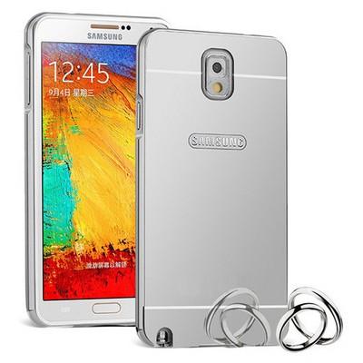 Microsonic Samsung Galaxy Note 3 Kılıf Luxury Mirror Gümüş Cep Telefonu Kılıfı