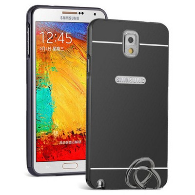 Microsonic Samsung Galaxy Note 3 Kılıf Luxury Mirror Siyah Cep Telefonu Kılıfı