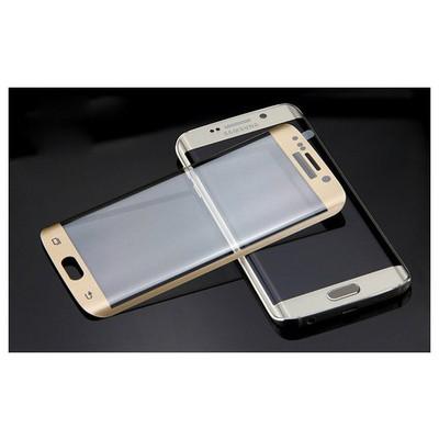 Microsonic Samsung Galaxy S7 Edge 3d Kavisli Temperli Cam Ekran Koruyucu Kırılmaz Film Gold Ekran Koruyucu Film