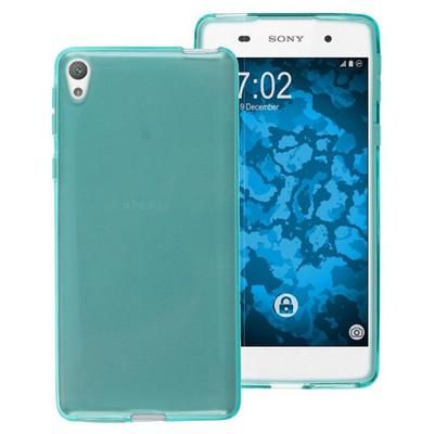 Microsonic Sony Xperia E5 Kılıf Transparent Soft Mavi Cep Telefonu Kılıfı