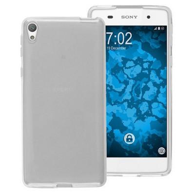 Microsonic Sony Xperia E5 Kılıf Transparent Soft Beyaz Cep Telefonu Kılıfı