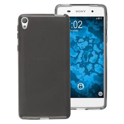 Microsonic Sony Xperia E5 Kılıf Transparent Soft Siyah Cep Telefonu Kılıfı