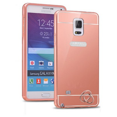 Microsonic Samsung Galaxy Note 4 Kılıf Luxury Mirror Rose Gold Cep Telefonu Kılıfı