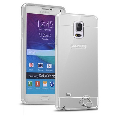 Microsonic Samsung Galaxy Note 4 Kılıf Luxury Mirror Gümüş Cep Telefonu Kılıfı
