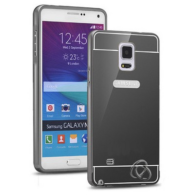 Microsonic Samsung Galaxy Note 4 Kılıf Luxury Mirror Siyah Cep Telefonu Kılıfı