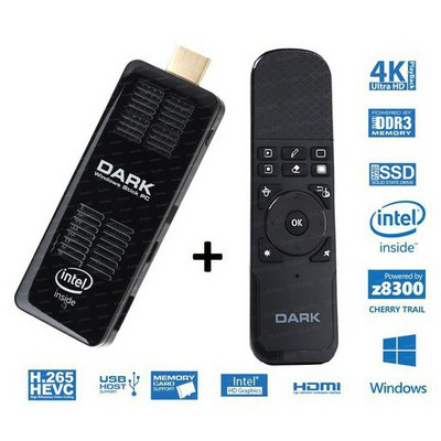 Dark DK-PC-XSW150W5 Intel Z8300 4 Çekirdekli 2GB/32GB Win10 / Sunum Kumandalı MINIPC Mini PC