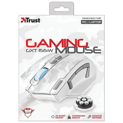 Trust GXT 155W Kablolu Gaming Mouse - Beyaz Kamuflaj (20852)