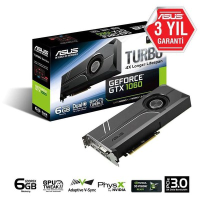 Asus Turbo GeForce GTX 1060 6G Ekran Kartı