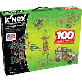 K'nex 863 Parçalı 100 Farklı Model Building Set Knex 12605 Lego Oyuncakları