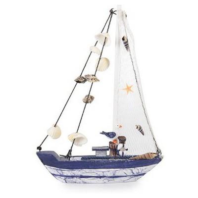 İhouse 00556 Yelkenli Tekne-mavi Dekoratif Süs