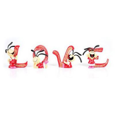 İhouse 00590 Aşk Böcekleri-kırmızı Biblo