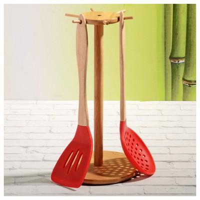 İhouse 20775 Bambu Kepçe Askısı-bambu Küçük Mutfak Gereçleri