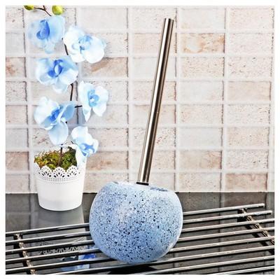 İhouse 3521 Seramik Tuvalet Fırçalığı-mavi Banyo Aksesuarı