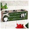 İhouse 53663 Dekoratif Mumluk Yeşil Ev Gereçleri