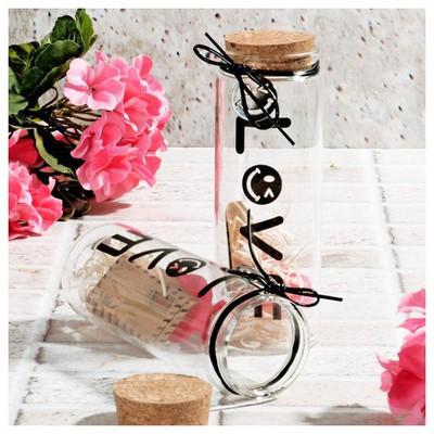 İhouse 53681 Aşk Kavanozu Cam Süs Cam Dekoratif Ürünler