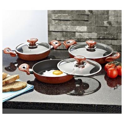 Evren 760 Mozaik Omlet Set-mozaik Kırmızı Tencere