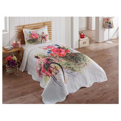 Örtüm Bahar Yatak Örtüsü Tek Kisilik Beyaz Yatak Örtüleri