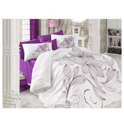 Örtüm Bella Ranforce Uyku Seti Cift Kisilik Mor Uyku Setleri