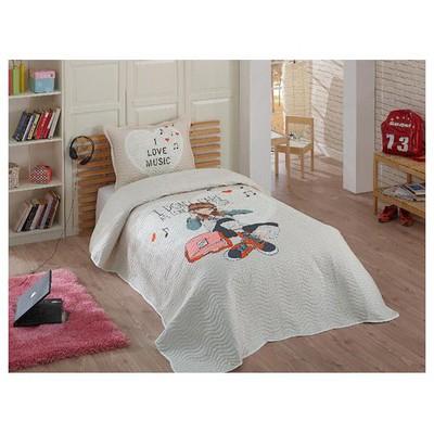 Örtüm Diana Yatak Örtüsü Tek Kisilik Bej Yatak Örtüleri