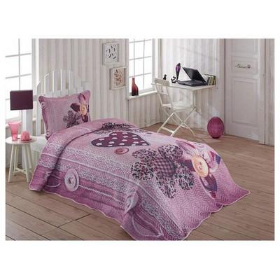 Örtüm Elegant Yatak Örtüsü Tek Kisilik Fusya Yatak Örtüleri