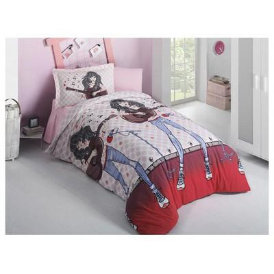 Clasy Emilyv2 Tek Kisilik Ranforce Uyku Seti Kırmızı Uyku Setleri