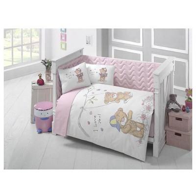 Clasy Masalv1 Ranforce Bebek Uyku Seti Tek Kisilik Pembe Uyku Setleri