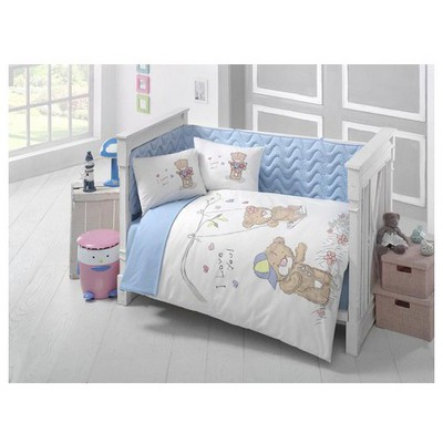 Clasy Masalv2 Ranforce Bebek Uyku Seti Tek Kisilik Mavi Uyku Setleri