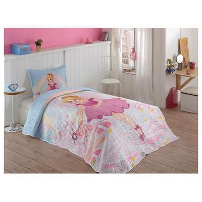 Örtüm Pink Girl Yatak Örtüsü Tek Kisilik Pembe Yatak Örtüleri