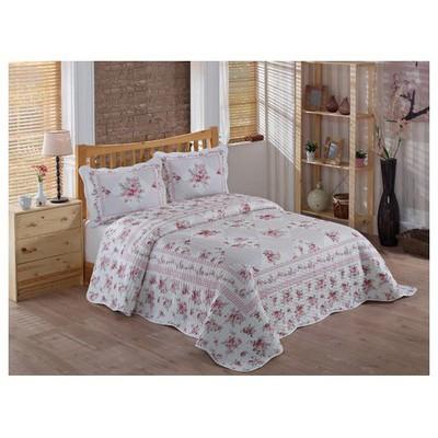 Örtüm Rose Yatak Örtüsü Cift Kisilik Pembe Yatak Örtüleri