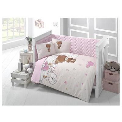 Clasy Teddyv1 Ranforce Bebek Uyku Seti Tek Kisilik Pembe Uyku Setleri