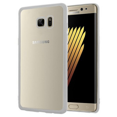 Microsonic Samsung Galaxy Note 7 Kılıf Flexi Delux Gümüş Cep Telefonu Kılıfı