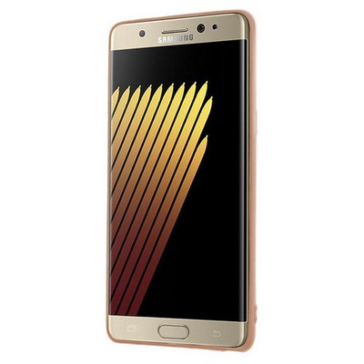 Microsonic Samsung Galaxy Note 7 Kılıf Flexi Delux Rose Gold Cep Telefonu Kılıfı