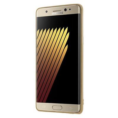 Microsonic Samsung Galaxy Note 7 Kılıf Flexi Delux Gold Cep Telefonu Kılıfı