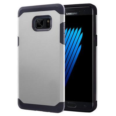 Microsonic Samsung Galaxy Note 7 Kılıf Slim Fit Dual Layer Armor Gümüş Cep Telefonu Kılıfı