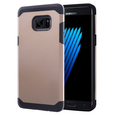 Microsonic Samsung Galaxy Note 7 Kılıf Slim Fit Dual Layer Armor Gold Cep Telefonu Kılıfı