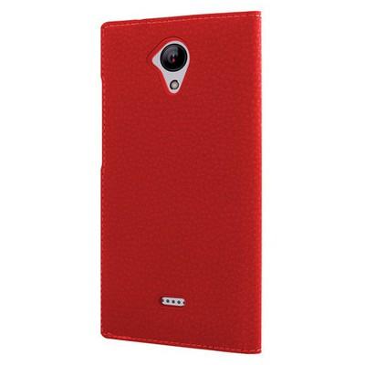 Microsonic Casper Via E1 Kılıf Dual View Gizli Mıknatıslı Kırmızı Cep Telefonu Kılıfı