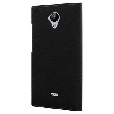 Microsonic Casper Via E1 Kılıf Dual View Gizli Mıknatıslı Siyah Cep Telefonu Kılıfı
