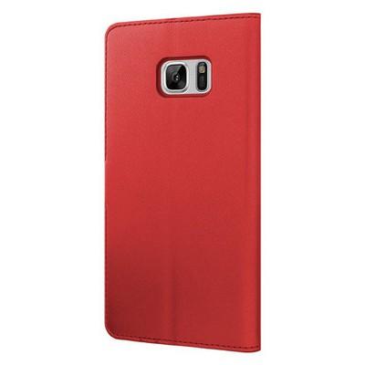 Microsonic Samsung Galaxy Note 7 Kılıf Cüzdanlı Deri Kırmızı Cep Telefonu Kılıfı