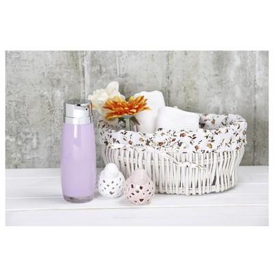 İhouse 3347l Akrilik Sıvı Sabunluk Beyaz Banyo Aksesuarı