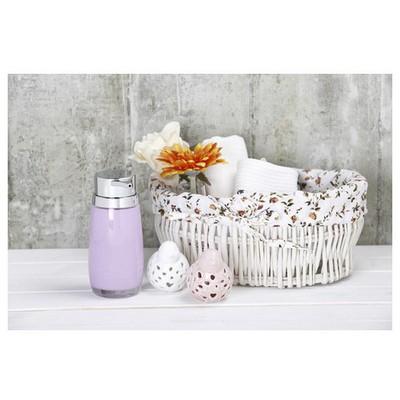 İhouse 3349l Akrilik Sıvı Sabunluk Beyaz Banyo Aksesuarı