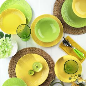 Naturaceram Ivy 24 Parça Sarı Yemek Seti Yemek Takımı