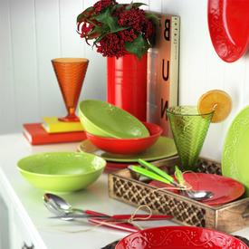 Naturaceram Ivy 24 Parça Yeşil Yemek Seti Yemek Takımı