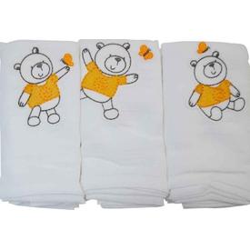 Funna Baby Müslin 3'lü Bebek Battaniye Teddy Yorgan