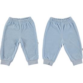 Bebetto T1069 Little Friend 2'li Kadife Bebek Pantolon Mavi 6-9 Ay (68-74 Cm) Pantolon & Şort